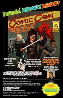 "Image of poster for ""Fantastic! Heroic! Disabled? 'Cripping' the Comic Con"